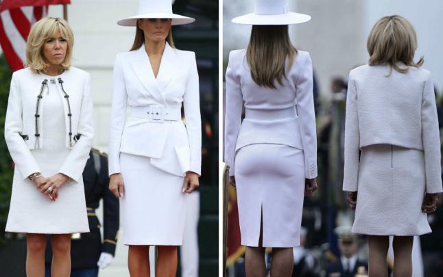 Melania Trump a eclipsat-o total pe Brigitte Macron. Prima-doamnă a Americii gazda perfectă