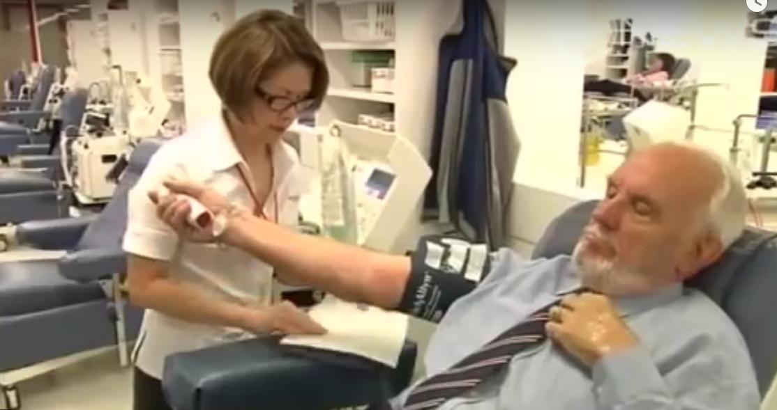 Donatorul care a salvat 2 milioane de vieți, a donat sânge pentru ultima oară