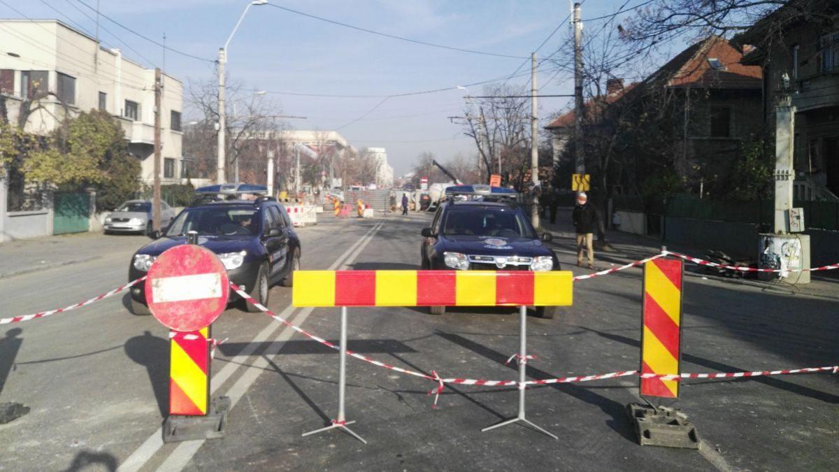Circulația transportului electric, suspendată pe strada Uzinelor