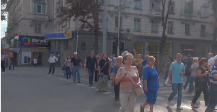 (VIDEO) Protest matinal în fața MAI și a Primăriei