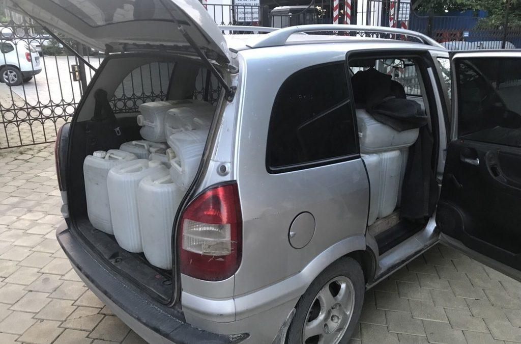 Peste două tone de alcool, reținute de echipele mobile ale Serviciului Vamal