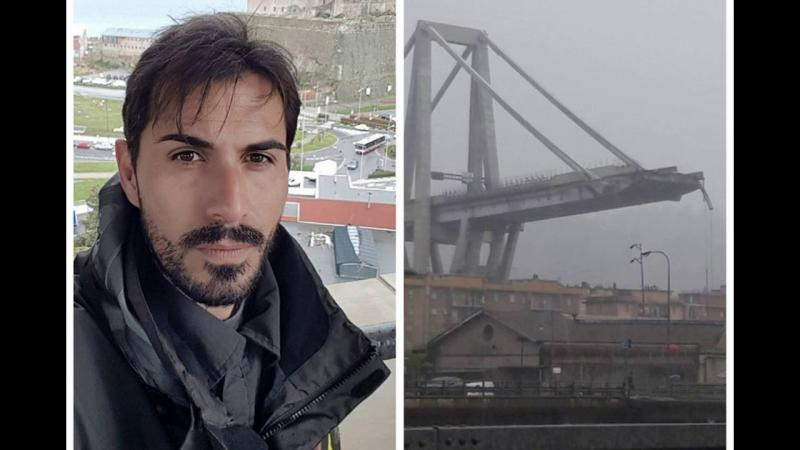 Un fotbalist italian a supraviețuit căderii de 30 de metri de pe viaductul din Genova
