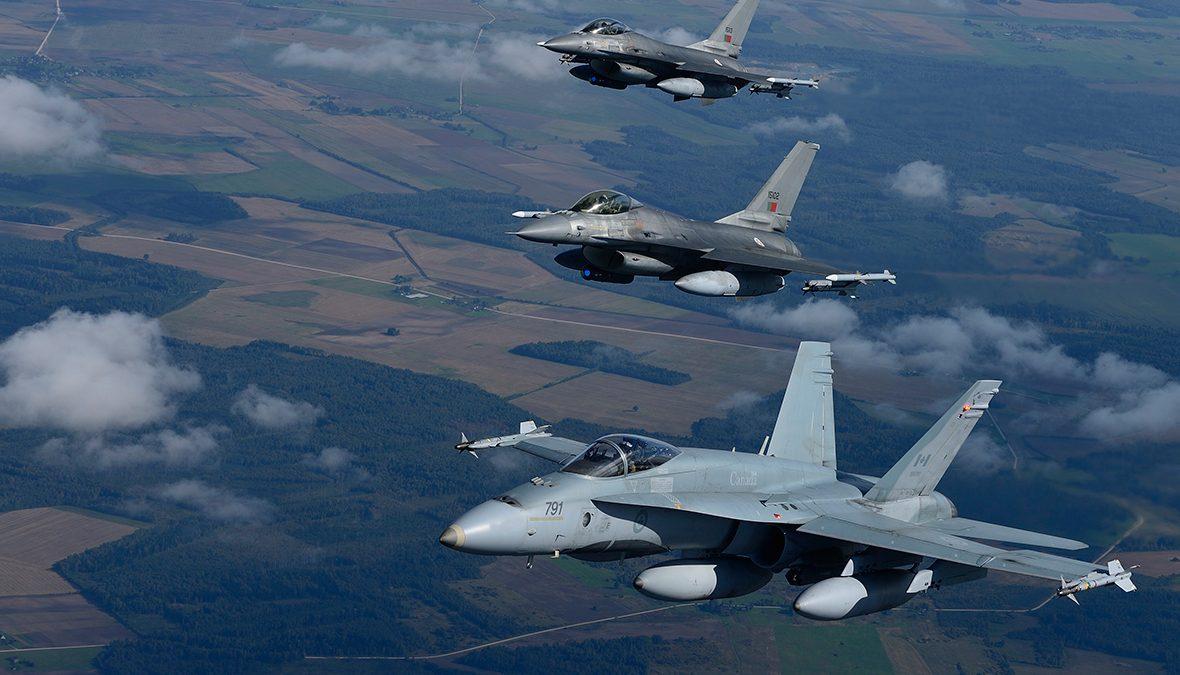 Canada trimite avioane de luptă în România