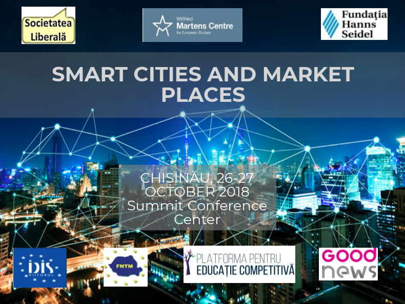 (LIVE VIDEO) La Chișinău se desfășoară conferința Smart Cities and Market Places