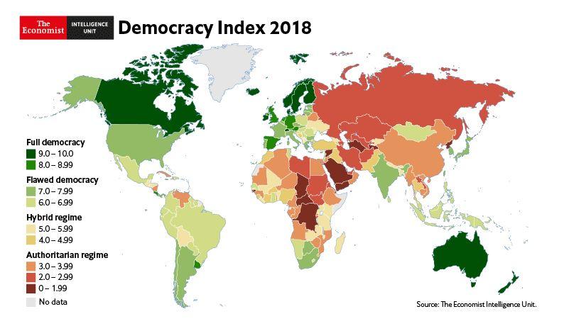 """(GRAFIC) Tot mai puțină democrație în Moldova: """"Regimul hibrid"""" de la Chișinău degradează"""