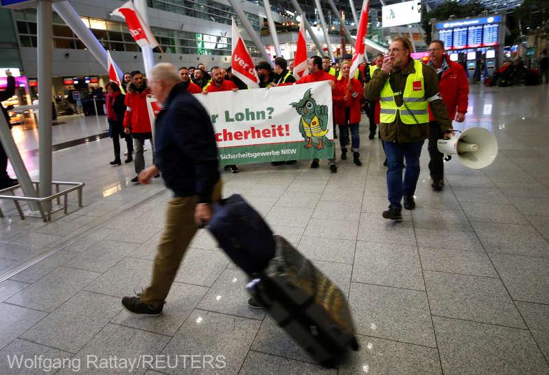 Grevă pe aeroporturile din Germania; Sute de zboruri, anulate