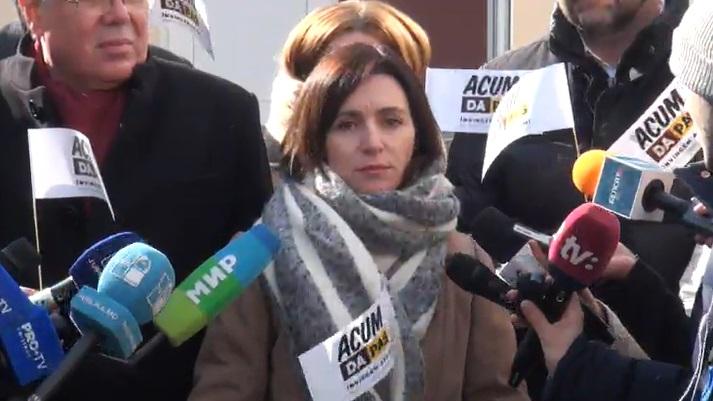(VIDEO) Maia Sandu a votat: Suntem îngrijorați că oamenii din regiunea transnistreană sunt aduși organizat la vot