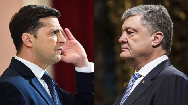 Alegeri în Ucraina: Zelenski și Poroşenko se vor confrunta vineri într-o dezbatere pe un stadion