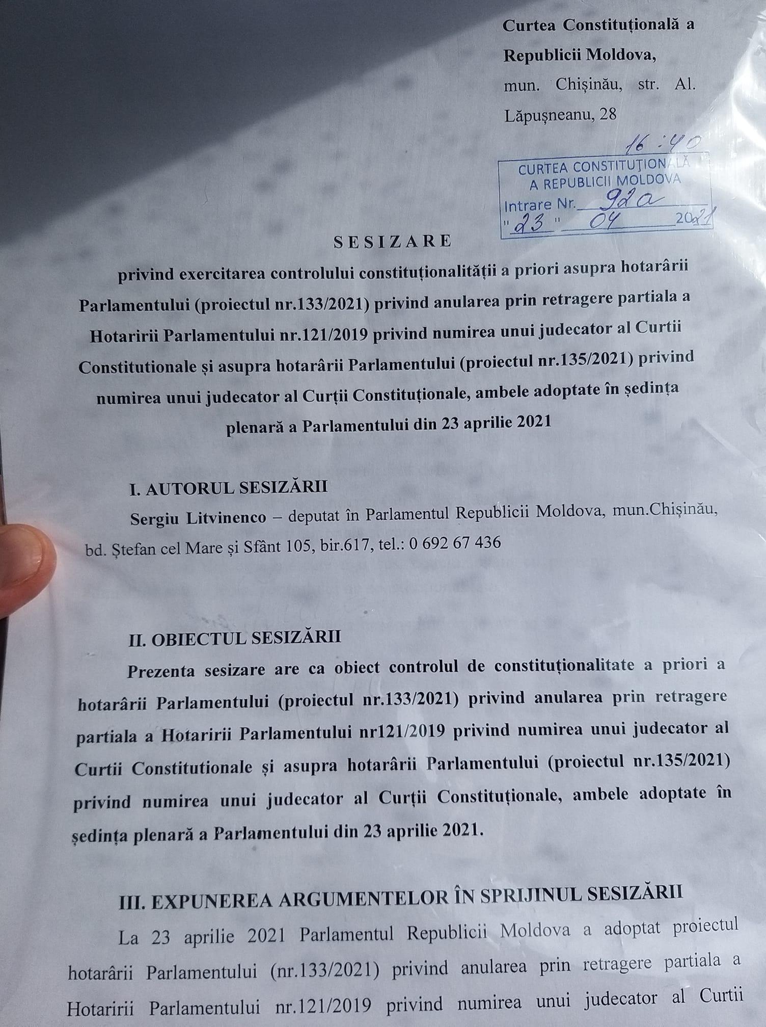 PAS a contestat la Curtea Constituțională revocarea din funcție a Domnicăi Manole și numirea altui judecător